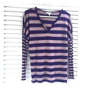 Striped Rayon Tunic Top